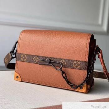 Louis Vuitton Mens Saffiano Calfskin Box Crossbody Bag M30717 Brown 2020 (KI-20070104)