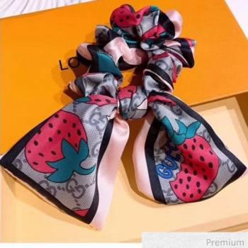 Gucci GG Strawberry Bow Headband Pink 2020 (MAO-20070634)