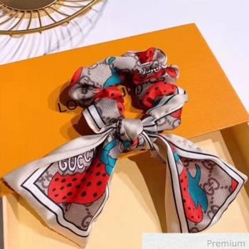 Gucci GG Strawberry Bow Headband White 2020 (MAO-20070636)