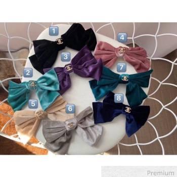 Chanel Velvet Hair Barrette 2020 (8 Colors) (MAO-20070632)