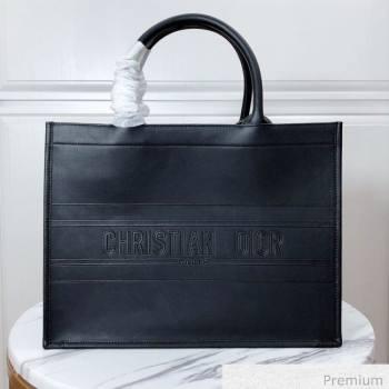 Dior Small Book Tote in Black Calfskin 2020 (XXG-20071018)