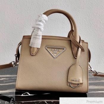 Prada Saffiano Leather Top Handle Bag 1BA269 Beige 2020 (YZ-20071029)