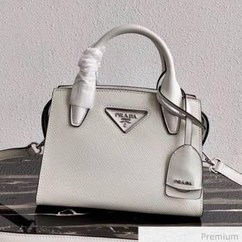Prada Saffiano Leather Top Handle Bag 1BA269 White 2020 (YZ-20071030)