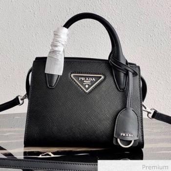 Prada Saffiano Leather Top Handle Bag 1BA269 Black 2020 (YZ-20071031)