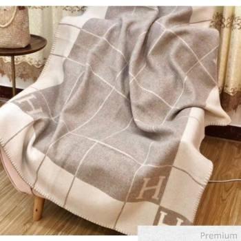 Herems Wool & Cashmere Avalon III Throw Blanket Light Grey 2020 (WTZ-20070762)