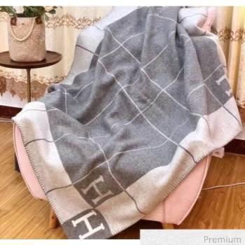 Herems Wool & Cashmere Avalon III Throw Blanket Light Grey 2020 (WTZ-20070766)