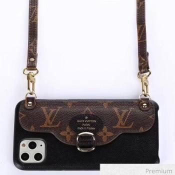 Louis Vuitton Monogram Canvas iPhone Clutch/Crossbody Bag Black 04 2020 (SJK-20070804)