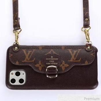Louis Vuitton Monogram Canvas iPhone Clutch/Crossbody Bag Brown 06 2020 (SJK-20070806)