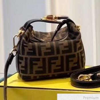 Fendi Vintage FF Canvas Mini Shoulder Bag Brown 2020 (SU-20070935)