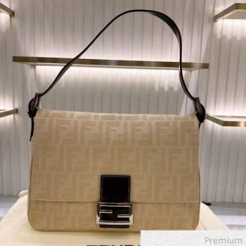 Fendi Baguette Large FF Canvas Bag Yellow 2020 (SU-20070934)