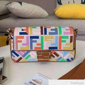 Fendi Baguette Medium FF Embroidered Bag Multicolor 2020 (SU-20071002)