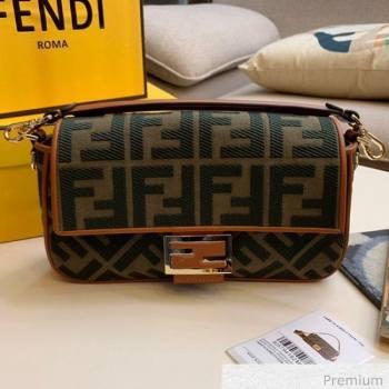 Fendi Baguette Medium FF Canvas Bag Green 2020 (SU-20071007)