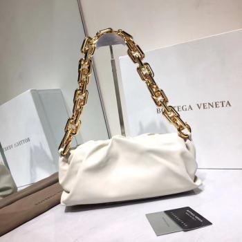 Bottega Veneta Nappa lambskin soft Shoulder Bag 620230 White