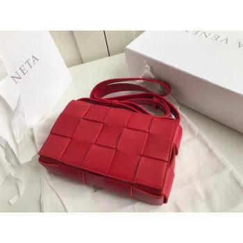Bottega Veneta Sheepskin Weaving Original Leather 578004 red