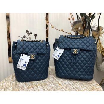 Chanel Backpack Sheepskin Original Leather 83431 blue
