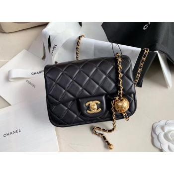 Chanel MINI Flap Bag Original Sheepskin Leather AS1786 black