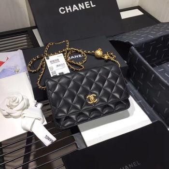 Chanel Original Small classic Sheepskin flap bag AS33814 black