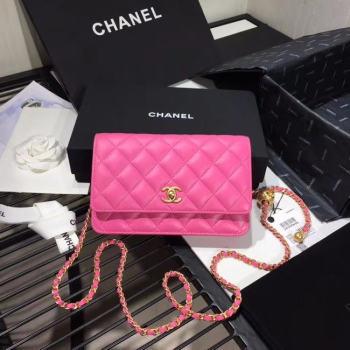 Chanel Original Small classic Sheepskin flap bag AS33814 rose