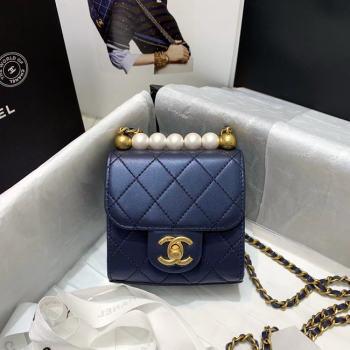 Chanel flap bag AP0997 Navy Blue