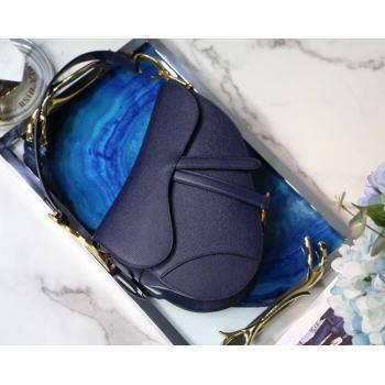 Dior SADDLE-TAS VAN KALFSLEER M0446C dark blue