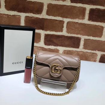 Gucci GG Marmont super Clutch bag 575161 Nude