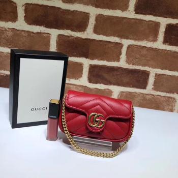 Gucci GG Marmont super Clutch bag 575161 red