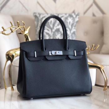 Hermes original Epsom Leather HB35O black&silver Metal