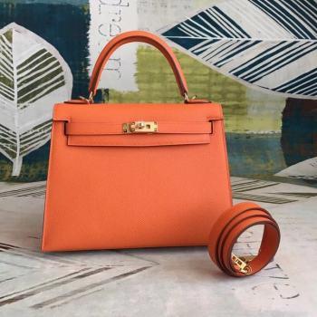 Hermes original Kelly Epsom Leather KL32 orange