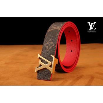 Louis Vuitton Leather Belt M0198W 30MM
