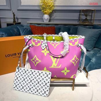 Louis Vuitton Monogram Canvas Original Leather NEVERFULL MM M44567 Pink