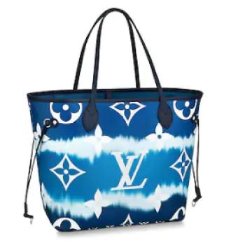 Louis Vuitton Monogram Canvas Original NEVERFULL M45128 blue