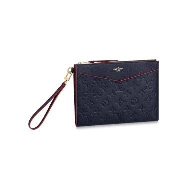 Louis Vuitton Original Monogram Empreinte Clutch bag MELANIE M68705 Navy blue