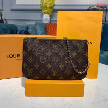 Louis Vuitton POCHETTE DOUBLE ZIP Chain bag M63905