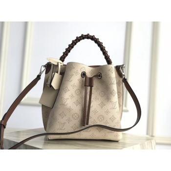 Louis Vuitton original Mahina Leather MURIA M55800 Creme Beige