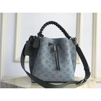 Louis Vuitton original Mahina Leather MURIA M55800 blue