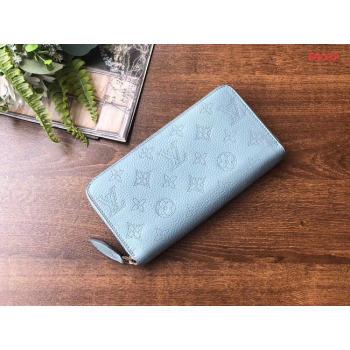 Louis vuitton original Iris ZIPPY Wallet M69032 blue