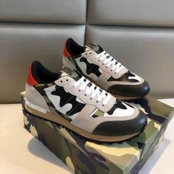 VALENTINO Camouflage Rockrunner Sneaker Shoes V4869