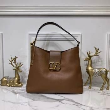 VALENTINO Origianl Palm Leather Bag V5002 Brown